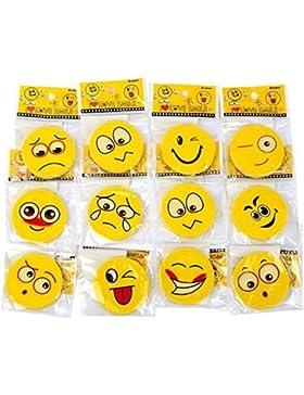 S/O 12er Pack Radiergummis, Smiley, 12verschiedene Modelle (0121)