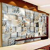 Xzfddn Moderne 3D Stereo Cube Marmor Carving Abstrakte Kunst Foto Wandbild Wohnzimmer Tv Sofa Hintergrund Wand-Dekor Vlies Benutzerdefinierte Tapete-150X120CM