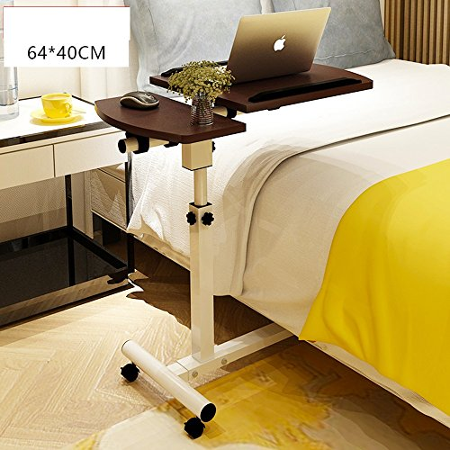 Klapptisch FEIFEI Tragbarer Laptop-Standplatz-Wagen mit dem Mäusevorstand, justierbare Höhe, 60 X 40 X 66.5-96.5 Cm Platz sparen (Farbe : 06) - Wohnzimmer Metall Klapptisch
