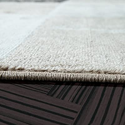 Cheap Check Design Modern Rug Living Room Rug Brown Beige Cream Top price - inexpensive UK light shop.