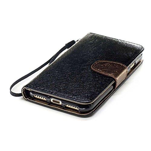 Slynmax Cover iPhone 7 / iPhone 8 Custodia Flip Case Pelle PU Cuoio Morbida Libro Magnetico Portafoglio Wallet Modello di Posta Design di Lusso in rosso + 1* Stilo Stylus Penna Capacitiva Black