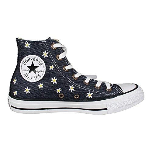 converse-damen-ctas-hi-lauflernschuhe-sneakers-blau-navy-fresh-yellow-white-40-eu