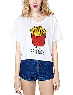 JWBBU Mujeres Camiseta Manga Corta Con Cuello Redondo Personalizar Camisetas Cortas Personalizadas Mujer Baratas...
