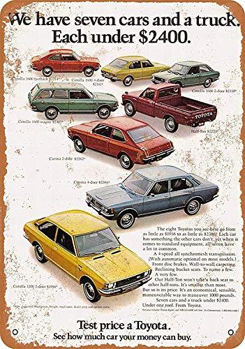 Sary buri Metal Tin Sign Poster Toyota Lineup Plaque Wandkunst Garage Club Bar Dekoration (Lineup Pins)