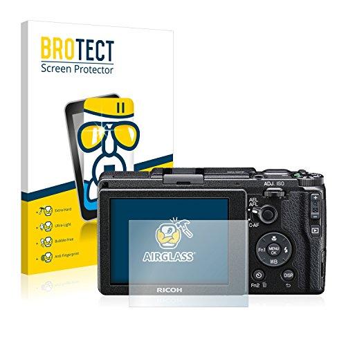 brotect Protection Ecran Verre Compatible avec Ricoh GR II 2015 Film Protecteur Vitre 9H Anti-Rayures, AirGlass