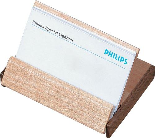 Visol prodotti in legno tavolo pieghevole porta biglietti da visita walnut