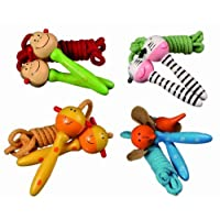 Girls Animal Wooden Handles Skipping / Jumping Rope - Childs/Children Perfect Ideal Christmas Stocking Filler Gift Present by Out of the Blue