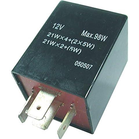 FL8 12 V 4 pin cuadrado Teckniks intermitente fusible
