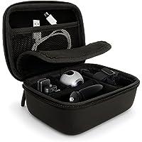 igadgitz Schwarz EVA Tragetasche Hartschale mit Tragegriff für Samsung Gear 360 Action Kameras