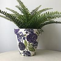 Purple Lilac Flower Terracotta Plant Pot 17cm