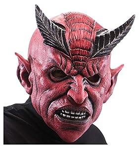Carnival Toys Diablo en látex con Estribo máscara Horror 180, Multicolor, 8004761013493