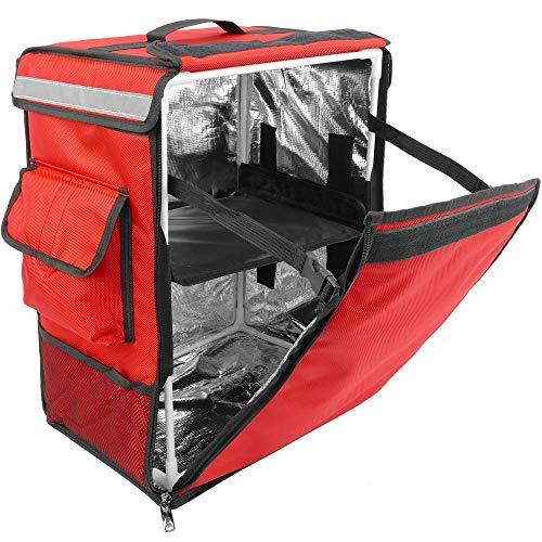 CityBAG - Thermischer Rucksack für wegbringen Essen Bestellungen per Fahrrad und Motorrad Lieferung rot