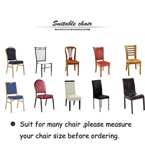 6x morbido spandex elasticizzato Fit sedie da sala da pranzo con motivo stampato, banchetto sedia sedile Slipcover per Hone party hotel cerimonia di nozze Posate da pasto B - 8