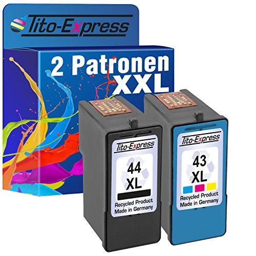 Tito-Express PlatinumSerie Set 2X Druckerpatrone für Lexmark 44 XL + 43 XL -