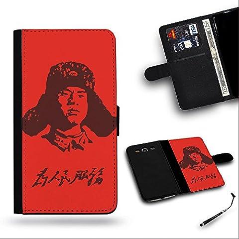 Teléfono Móvil/Tienda/Full protección funda carcasa ranura de funda de piel tipo cartera para Samsung Galaxy S4i9500, Samsung S4//Lei Feng Servir la gente