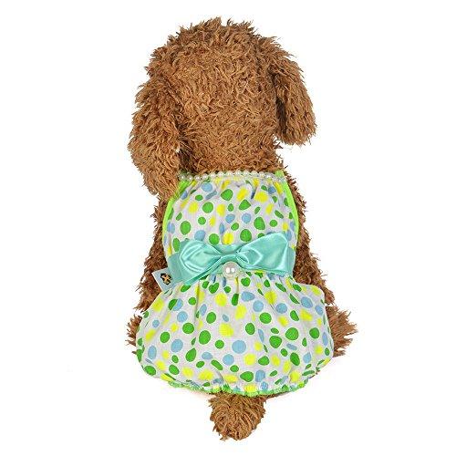 Pet Rock,Pearl Sling Dress Dog Kostüme Hunde Bekleidung,Hund Kleid Prinzessin Brautkleider Hundekleider Hochzeit,Prinzessin-Kleid für Hunde Pet Rock Kleidung Supplies (Grünes, L)