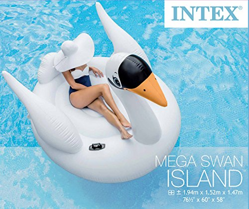 Intex Schwan riesige Badeinsel Schwimmtier Luftmatratze 194 cm