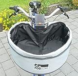 Hundefahrradkorb- Großer Designer Hunde- Fahrradkorb / Hundetasche im Set mit solider Fahrradhalterung
