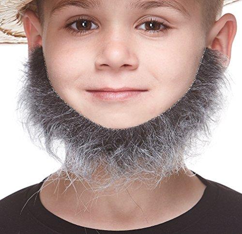 Kostüm Salz & Pfeffer - Mustaches Selbstklebende Kleiner Morman Fälschen Bart für Kinder Salz und Pfeffer Farbe