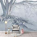 Lvabc Modern Interior Hintergrund Wanddekoration Design 3D Kunst Große Wandbilder Baumwurzel Texturierte Wandbild Tapete Für Wohnzimmer Schlafzimmer-200X140Cm