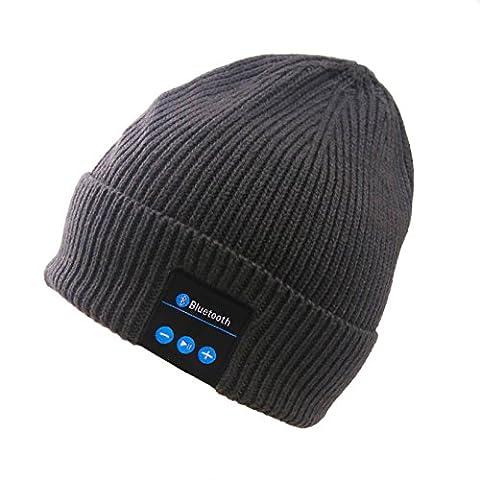 Nine Bull Bluetooth à tricoter quadruple Collection Aiguille Cycle de chargement à l'aide d'hiver Bonnet en tricot Chapeau
