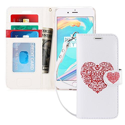 iPhone 7Plus Fall, fyy [RFID-blockierender Wallet] 100% Handgefertigt Brieftasche Schutzhülle Ständer Cover Kreditkarte Displayschutzfolie für iPhone 7Plus