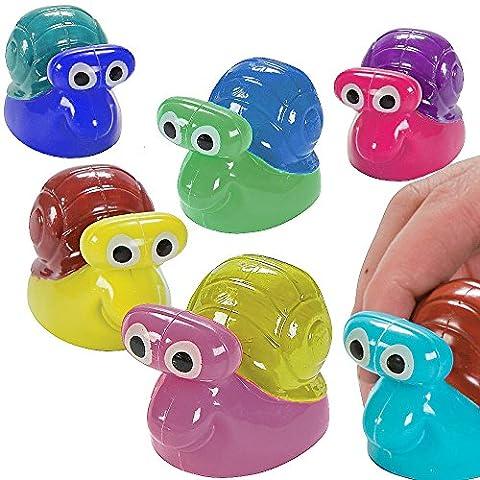 German Trendseller® 8 x escargots avec pull-back┃Racer┃l'anniversaire d'enfant┃petit cadeau┃idée cadeau ┃mélange de