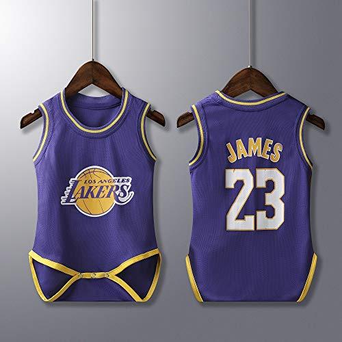 Rehot Unisex Baby Body - NBA Jordan 23/Curry 30/James 23/Irving 11 Basketball Trikot Ärmellos für Baby Jungen & Mädchen Achselbody Wickelbody Strampler Formender Body, 6-30 Monate