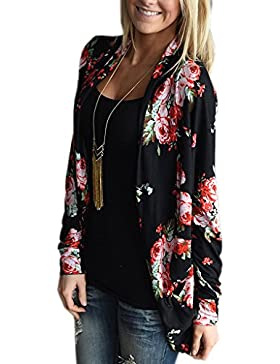 ZIOOER Mujer Cárdigans Con Manga Larga Splicing Estampada Casual Primavera Otoño Outdoor Cardigan Tops Outerwear...