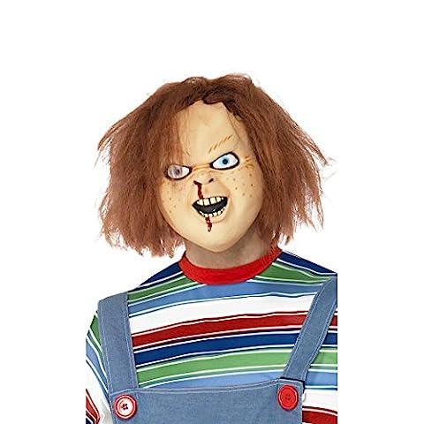 Chucky Maske Latex hautfarben Latexmaske Vollmaske Horrormaske Halloween Masken Kostüm Accessoire (Chucky Die Puppe Kostüm)