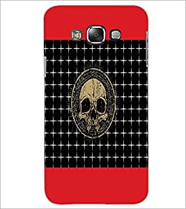 PrintDhaba Skull D-6044 Back Case Cover for SAMSUNG GALAXY E7 (Multi-Coloured)