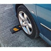 RWS-4 Soltero tope de la rueda de goma para los estacionamientos y garajes 55x15x10cm