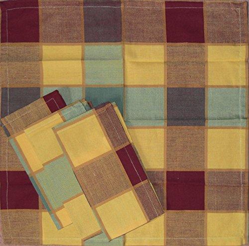 4 pcs servilletas de tela de algodón, 40 x 40 cm, colour marrón y de