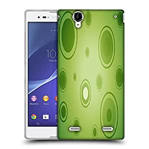 Snoogg Abstract Green Circles Designer Protective Phone Back Case Cover For Sony Xperia T2 Ultra