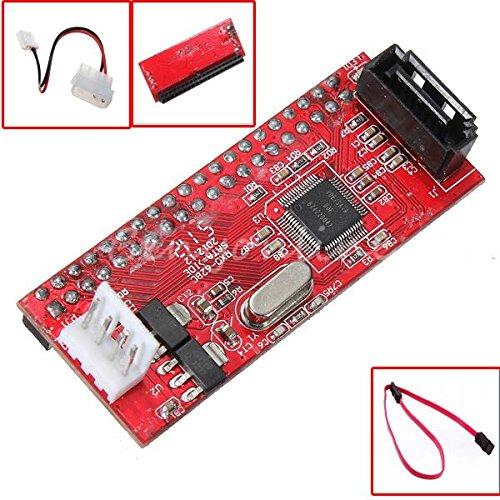 wooshshop® SATA Serial-ATA to 3.5 IDE PATA HDD Converter Adapter Support ATA100/133 + Cable
