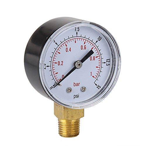Pinzhi Niedriger Hydraulikflüssigkeit Gefüllter Druckmesser 0-15 PSI 0-1bar 1/4 BSPT Ult