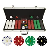 Trademark Poker Personalized Monogrammed 500 11.5gm Suited Chips in Case