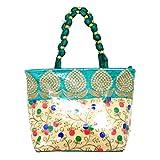 #8: Kuber Industries Women's Silk Fully Laminated Handbag, Green