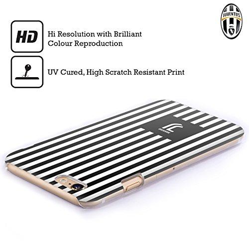Offizielle Juventus Football Club Logomark Muster Lifestyle 2 Ruckseite Hülle für Apple iPhone 6 Plus / 6s Plus Schwarzweisse Streifen