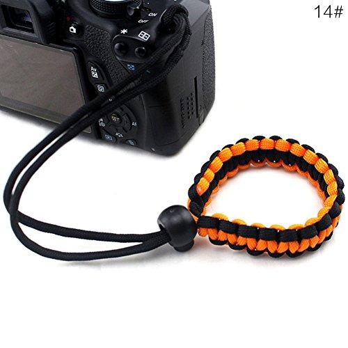 gnrjgs Geflochtenes Paracord-Armband, Verstellbare Kamera-Handgelenkschlaufe für Kamera, Fernglas,...