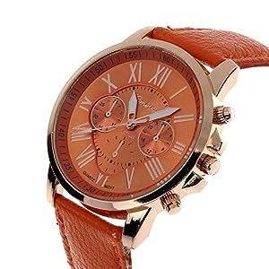 ✿ pitashe Uhr, Uhr Damen Smart Watch Fashion Armband Sportuhren Armbanduhr Damen, mit 4cm Gehäusedurchmesser, Kunstleder Uhr 2cm Bandbreite ✿