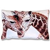 Bestlivings Dekokissen mit Fotodruck ca. 40x60cm, Flauschig weich, in weiteren Motiven verfügbar (Design: Giraffen)