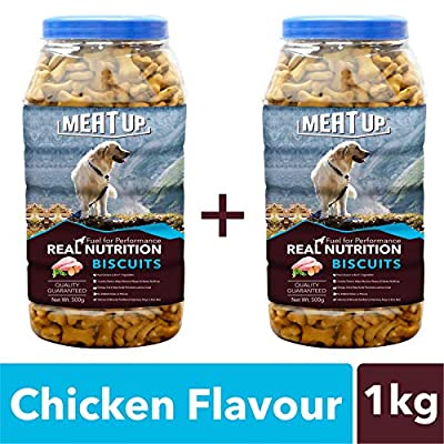 Meatup Chicken Flavour Real Chicken Biscuit, Dog Treats