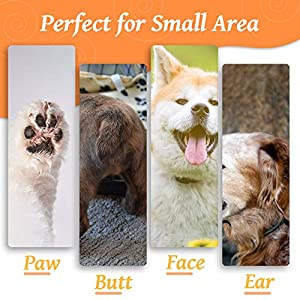 Dog Grooming Clippers, Cat Dog Clippers Pet Hair Trimmer, Rechargeable Wireless Design Low Noise Electric for Hair Around Face, Eyes, Ears, Paw, Rum