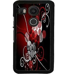 ColourCraft Hearts Pattern Design Back Case Cover for LG GOOGLE NEXUS 5X