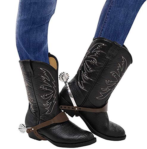 shoperama Stern Sporen für Cowboy Kostüm Western Wilder Westen Sheriff Marshall Reiter Stiefel Kostüm-Zubehör