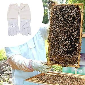 Idiytip 1 Paire de Gants de Protection pour Apiculture à Manches Longues ventilées et Anti-morsures Outils pour l'apiculture