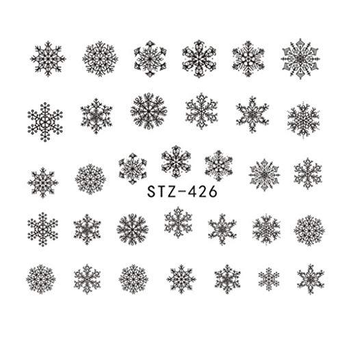 Los Copos de Nieve de Navidad de uñas Pegatinas Flor de Clavo Envuelve Etiquetas del Arte Tatuajes Herramienta de la manicura del Partido Regard