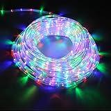 DECKEY 20M Lichterschlauch LED Lichtschlauch Außen/Innen Microlichter Weihnachten Lichterkette Licht-Dekoration für Garten Fest XMAS (20m, bunt)