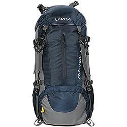 Lixada Mochila de Senderismo con Cubierta Lluvia Impermeable Paquete del Alpinismo Escalada Marcha Trekking Camping Deporte Al Aire Libre 45L+5L
